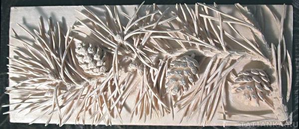 Зимняя композиция в резьбе