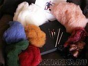 Основная деталь игрушки: валяние иглой